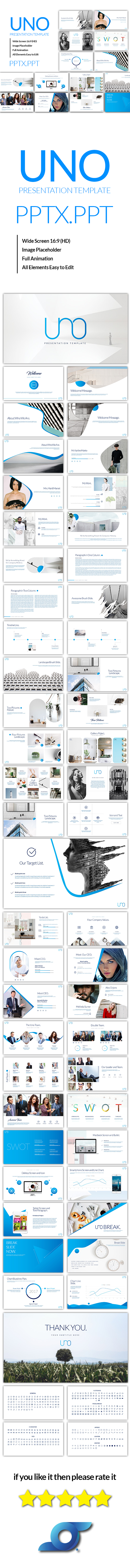 Uno Powerpoint Template - PowerPoint Templates Presentation Templates
