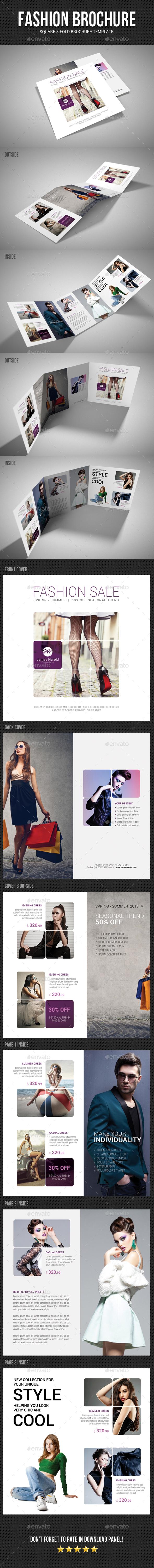 Square Tri-Fold Fashion Brochure 03 - Catalogs Brochures