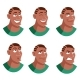 Set of Face Icon - GraphicRiver Item for Sale