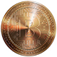 Copper Bitcoin Isolated on White Background 3d - GraphicRiver Item for Sale