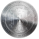 Silver Bitcoin Isolated on White Background 3d