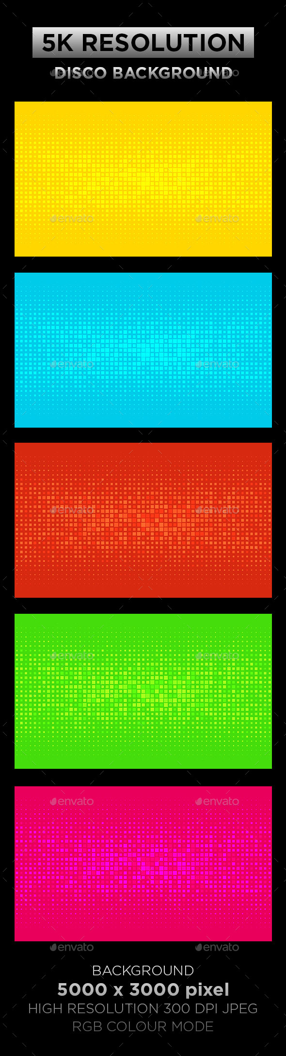 Disco Background 001 - Backgrounds Graphics