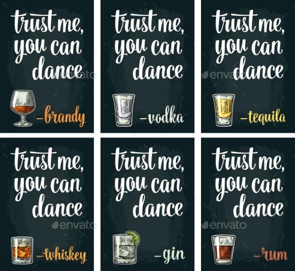 Vintage Alcohol Sign - Miscellaneous Vectors