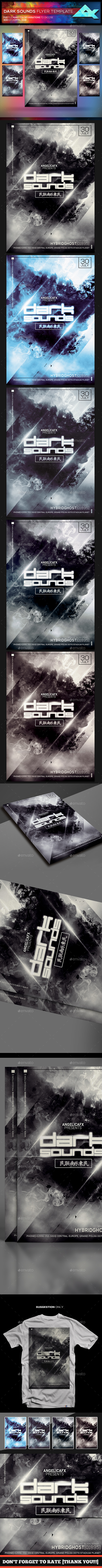 Dark Sounds Flyer Template - Flyers Print Templates