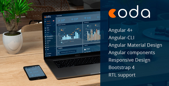 ThemeForest Coda Angular 4& Bootstrap 4 Admin Theme 20266294