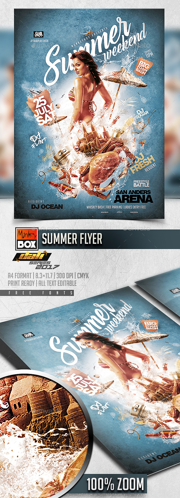 Summer Flyer - Flyers Print Templates