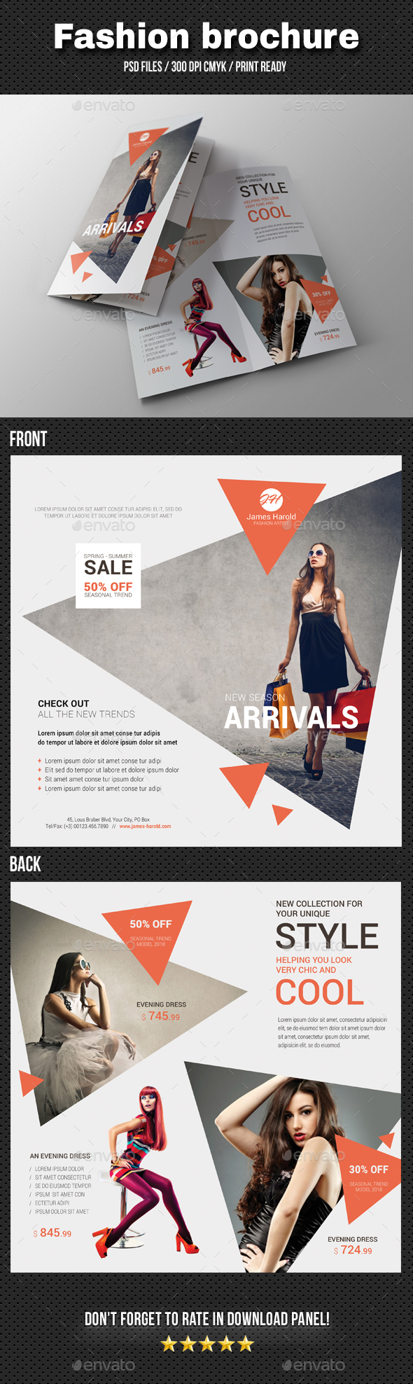 Fashion Bi-Fold Brochure 04 - Catalogs Brochures