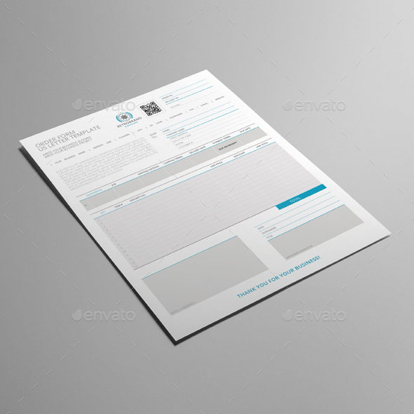 Order Form US Letter Template by Keboto | GraphicRiver