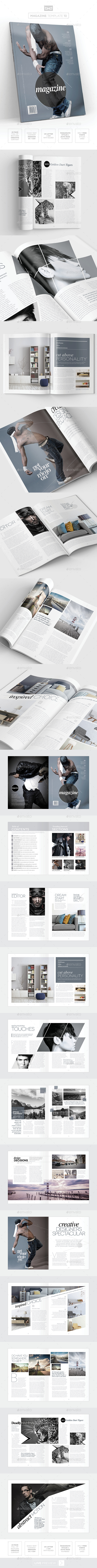 Magazine Template - InDesign 24 Page Layout V13 - Magazines Print Templates
