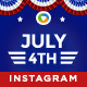 Fourth of July Instagram Templates - 20 Designs