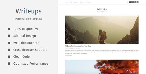 Writeups - Personal Blog Template
