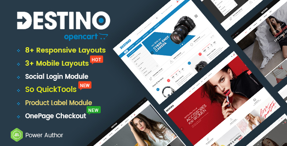 Destino - Multipurpose eCommerce OpenCart 2.3 Theme With Mobile-Specific Layouts - OpenCart eCommerce