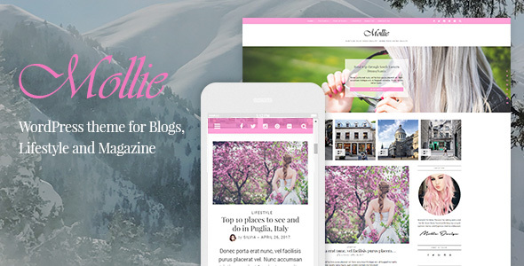 Mollie - Beautiful and Responsive WordPress Blog Theme