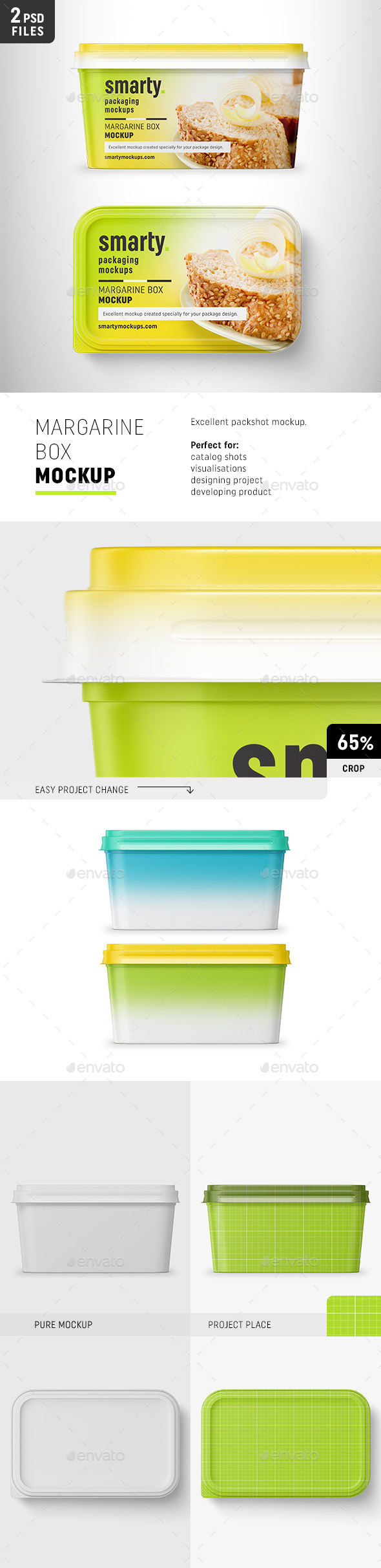 Margarine Box Mockup - Food and Drink Packaging