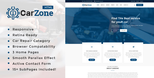Car Zone || Auto Mechanic & Car Repair Template