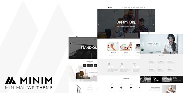 Minim - Minimal Portfolio Theme - Business Corporate