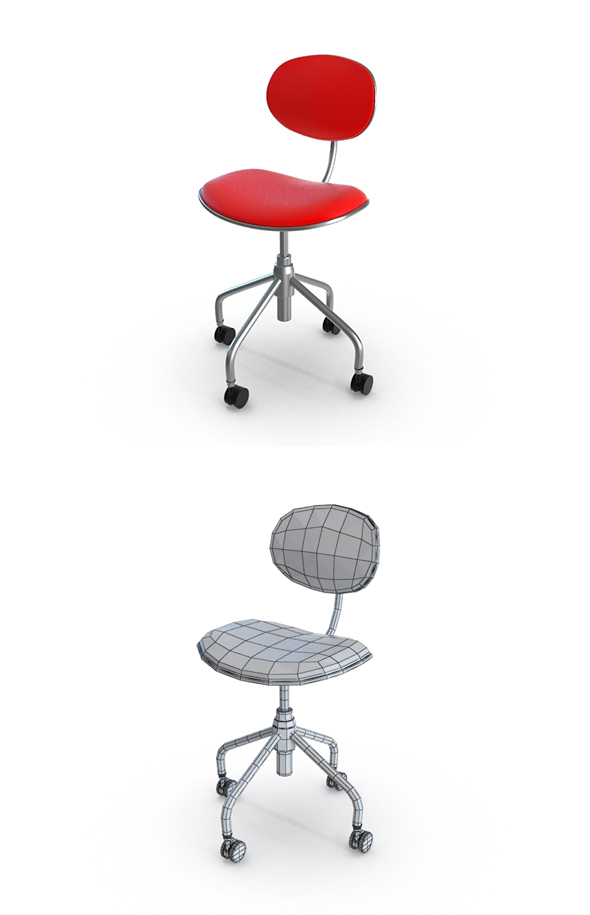 Simple Swivel Office Chair - 3DOcean Item for Sale