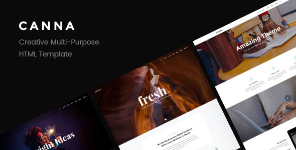 Canna – Creative Multi-Purpose HTML Template