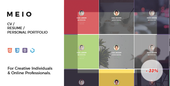 Meio – CV / Resume / Personal Portfolio Template for Creatives