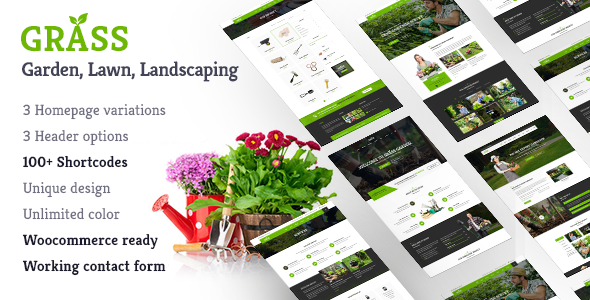 Garden & Landscape WordPress | Grass Garden & Landscape - Business Corporate