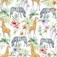 Tropical Wildlife Pattern