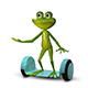 3d Illustration  Frog on the Gyro Scooter - GraphicRiver Item for Sale