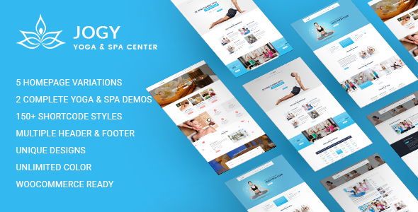 Yoga & Spa WordPress | Jogy - Health & Beauty Retail