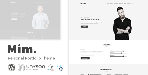 Mim - Personal Portfolio WordPress Theme