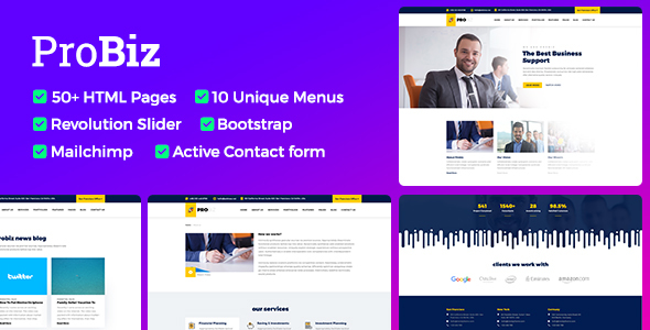 Download Probiz - Responsive Business HTML Template