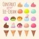Cartoon Ice Cream and Waffle Cone Cartoon Creation