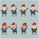 Set of Flat Businessmen with Phone - GraphicRiver Item for Sale