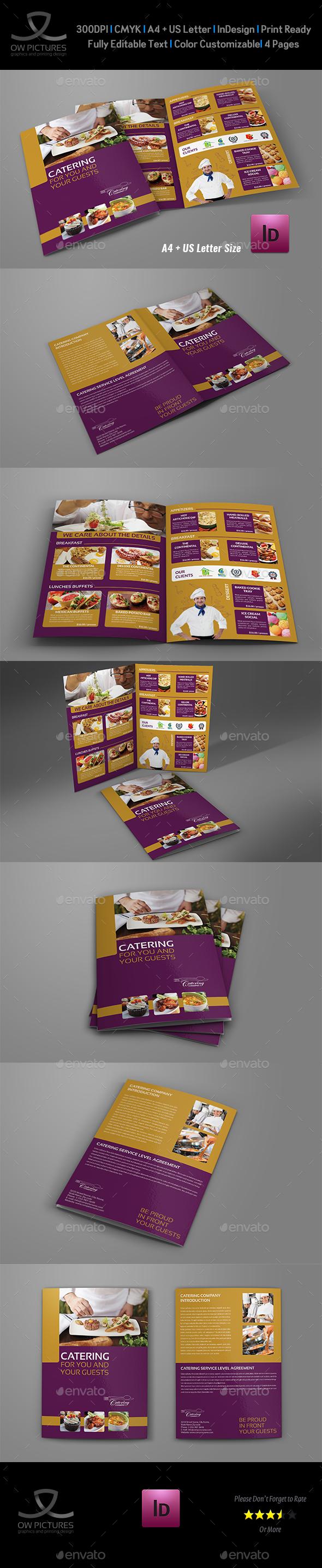 Catering Bi-Fold Brochure Template - Brochures Print Templates