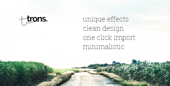Trons - Clean Portfolio & Agency WordPress Theme