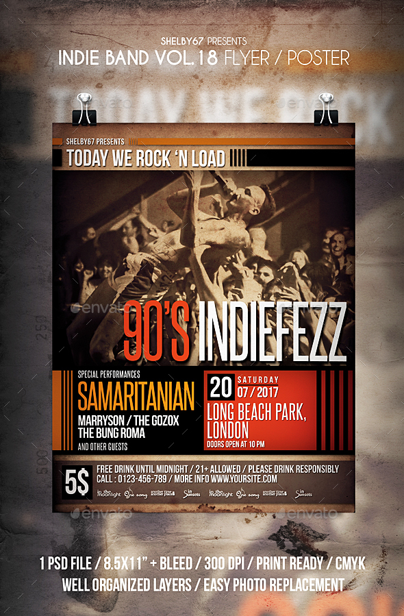 Indie Band Flyer / Poster Vol 18 - Events Flyers