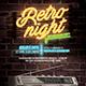 Retro Night Flyer - GraphicRiver Item for Sale