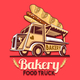 Food Truck Bakery Bread Fast Delivery Service Vector Logo - GraphicRiver Item for Sale