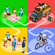 Food Truck BBQ Grill Home Delivery Vector Isometric People - GraphicRiver Item for Sale