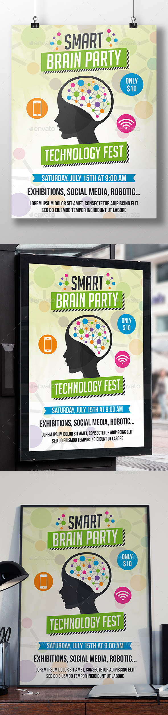 Smart Brain Flyer Template - Miscellaneous Events
