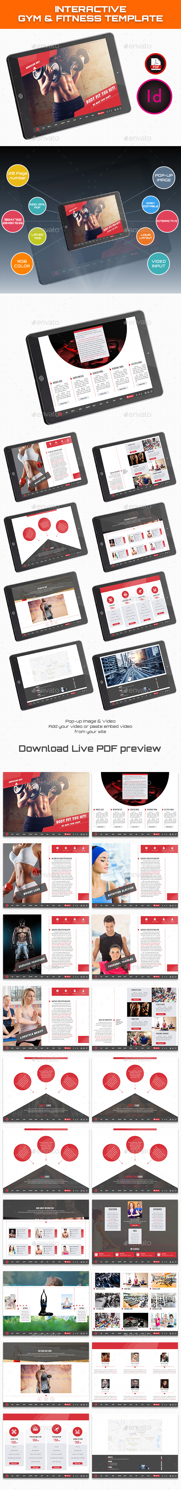 Interactive Gym Fitness Health Template - ePublishing