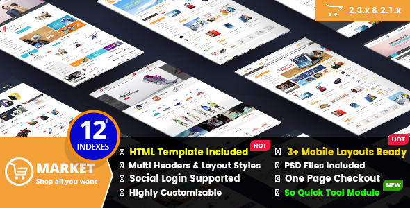 Market - Responsive All Purpose OpenCart Theme - Shopping OpenCart