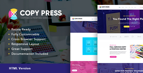 CopyPress | Type Design & Printing Services HTML Template - Retail Site Templates