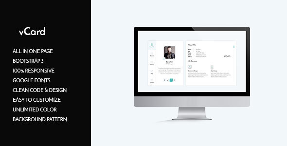 Image of vCard HTML Template