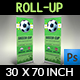 Soccer Signage Roll Up Banner Template - GraphicRiver Item for Sale