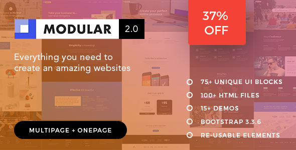 Modular | The Multi-Purpose Responsive HTML5 Template