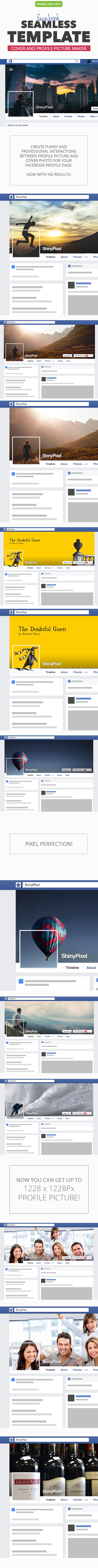 Facebook Seamless Template HD - Utilities Actions