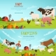 Agribusiness Vector Illustrations.