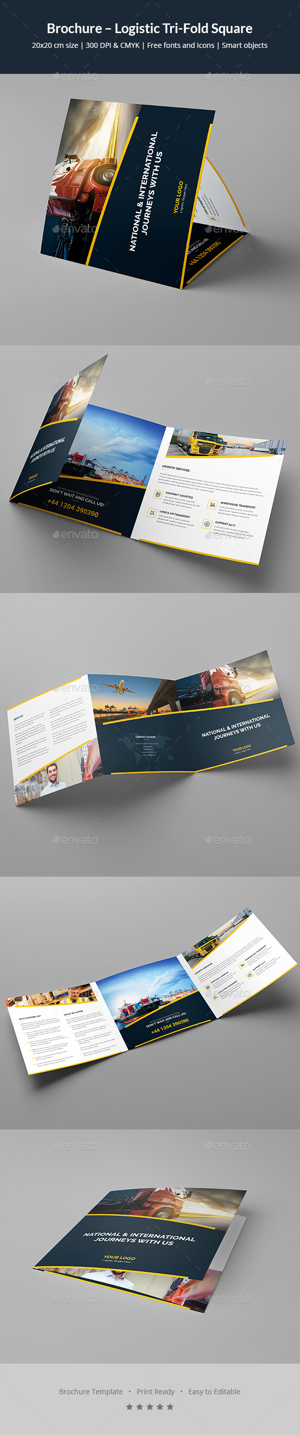 Brochure – Logistic Tri-Fold Square - Corporate Brochures