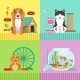 Conceptual Illustrations of Different Pets.