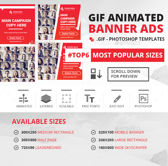 GIF - Animated Banner Ads - Banners & Ads Web Elements
