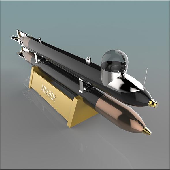 German Manned Torpedo Neger - 3DOcean Item for Sale